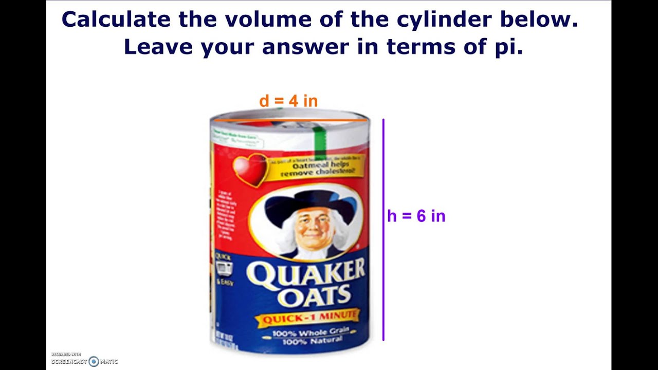 how to find the max volume of a cilinder
