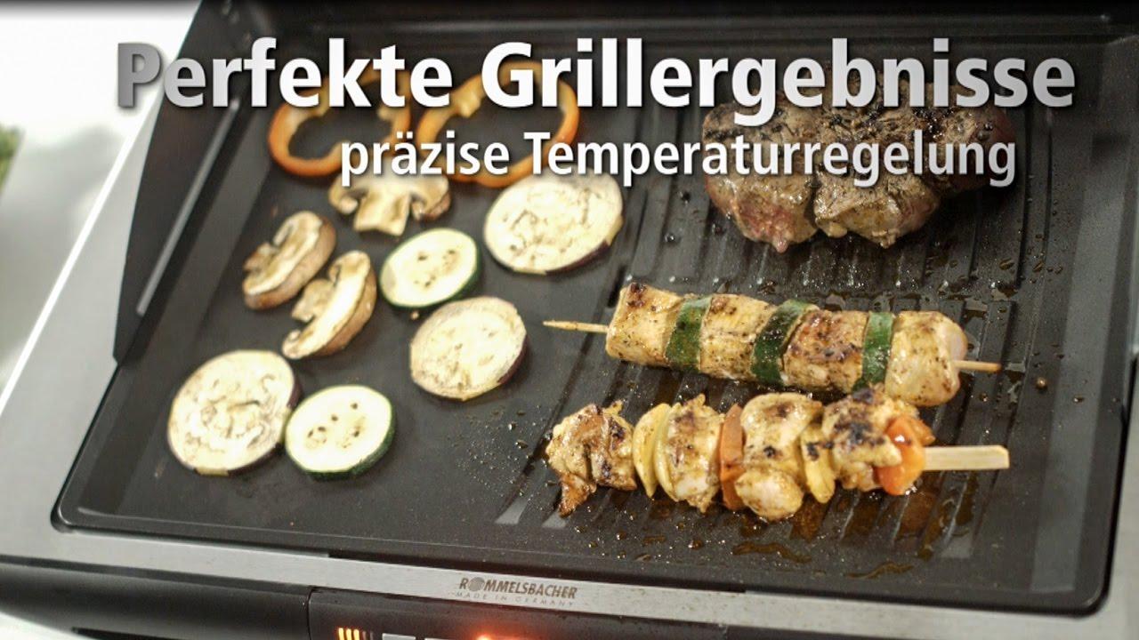 Rommelsbacher Elektrogrill Test : Rommelsbacher bbq e gourmet deluxe design tischgrill youtube