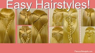 9 EASY Half Up Hairstyles For School! Top Hairstyles Compilation