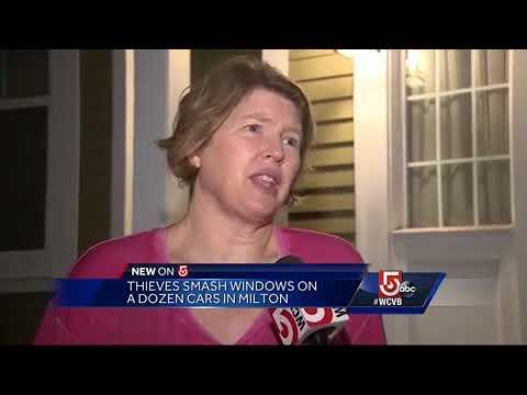 Thieves smash windows on a dozen cars in Milton