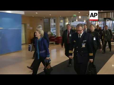 NATO defence ministers arrive for 2nd day of Brussels meeting