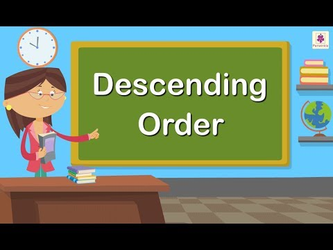 Descending Order | Maths Concept For Kids | Grade 1 | Periwinkle