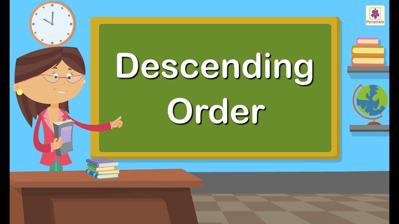 Descending Order   Maths Concept For Kids   Grade 1   Periwinkle - YouTube [ 720 x 1280 Pixel ]