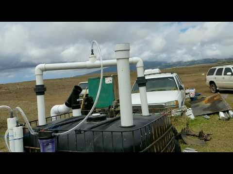 Biogas Digester Build How-to at Home with filters Hawaii anaerobic digester