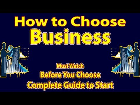 How to choose Business || Criteria for selecting a Business Idea || by BITDR