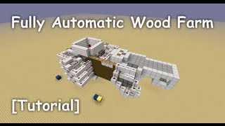 Fully Automatic Afk Wood Farm (for Spruce, Jungle, Birch And Oak) - [tutorial]
