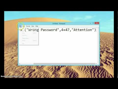 Techub Tutorial - 1 Batch file with password and error message