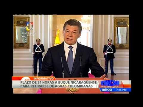 Colombia da 24 horas para que buque de Nicaragua salga de sus aguas