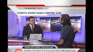Así se vivió el fuerte temblor de 6.8 en Chile Canal 24 Horas TVN