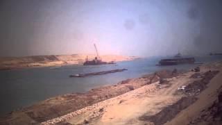 قناة السويس الجديدة : أعلام مصر ترفرف على موقع أكبر سحارة فى العالم لنقل مياه النيل