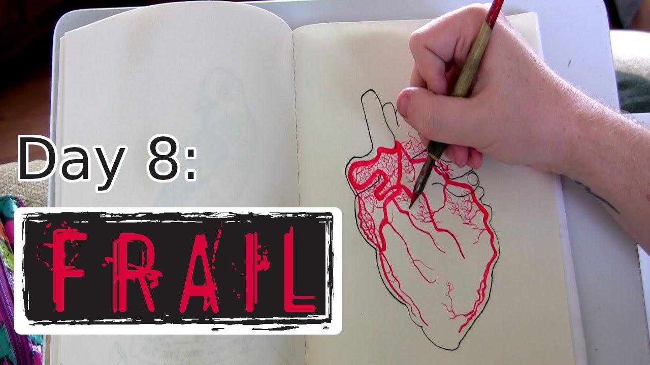 Inktober 2019 Day Eight (Frail) Illustration Timelapse