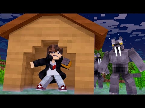 Minecraft: DESAFIO DA BASE 100% SEGURA CONTRA LOBISOMEN  ‹ JUAUM ›