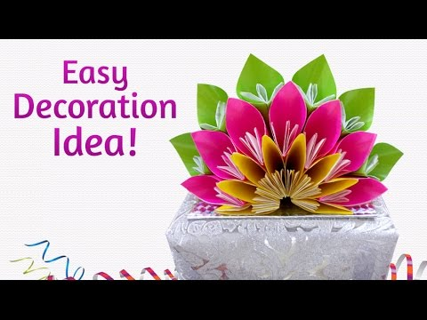 Easy Paper Crafts : How To Make Beautiful DIY Floral Craft for Decoration
