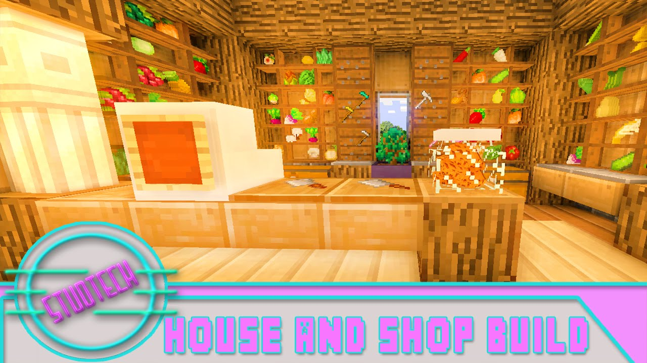 Minecraft: How To Build A House And Shop For Pam's ...