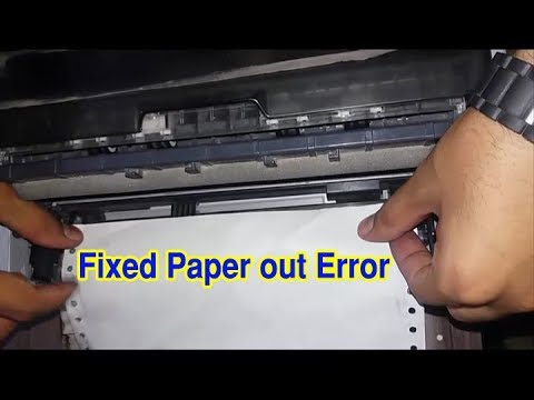 epson lq 310 paper out error ( How To Load Paper/Page In Printer ) paper jam