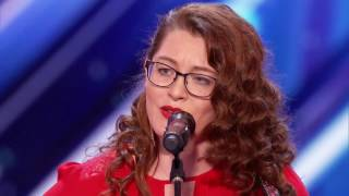 Golden Buzzer For Mandy Harvey Deaf Singer With Original Song - America's Got Talent 2017