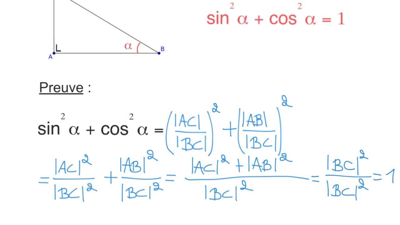 formules trigonometriques demonstration