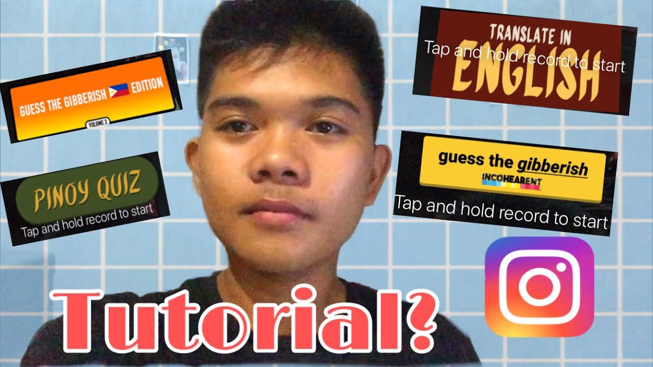 How To Get The Pinoy Quiz Guess The Gibberish A Dumb Quiz Filter On Instagram Mark Jincent Youtube