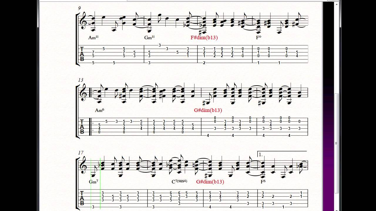CORCOVADO GUITAR CHORDS DOWNLOAD