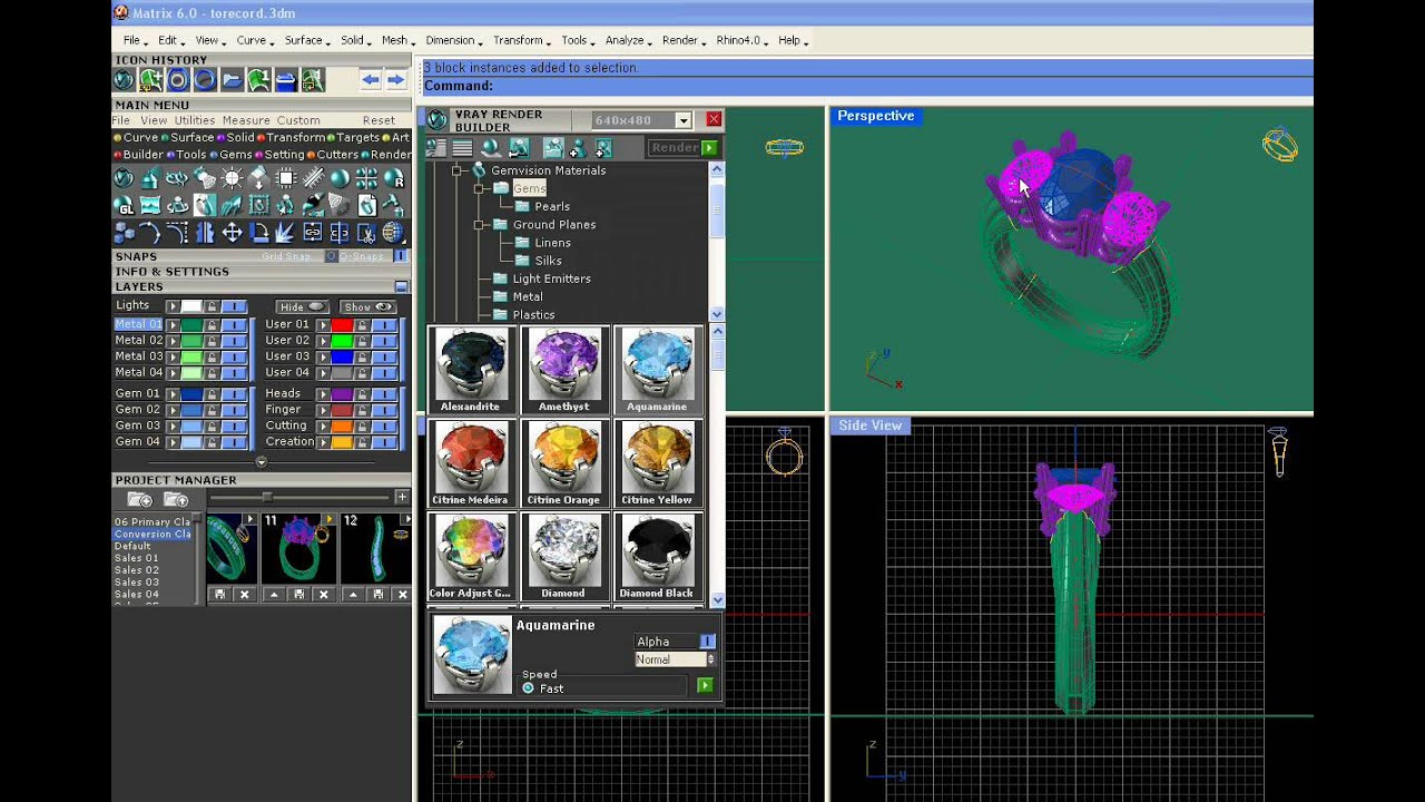 Matrix 3D jewelry design ring software 63 khmer news today YouTube