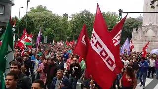 Miles de trabajadores se manifiestan en el quinto día de huelga del Metal de Bizkaia