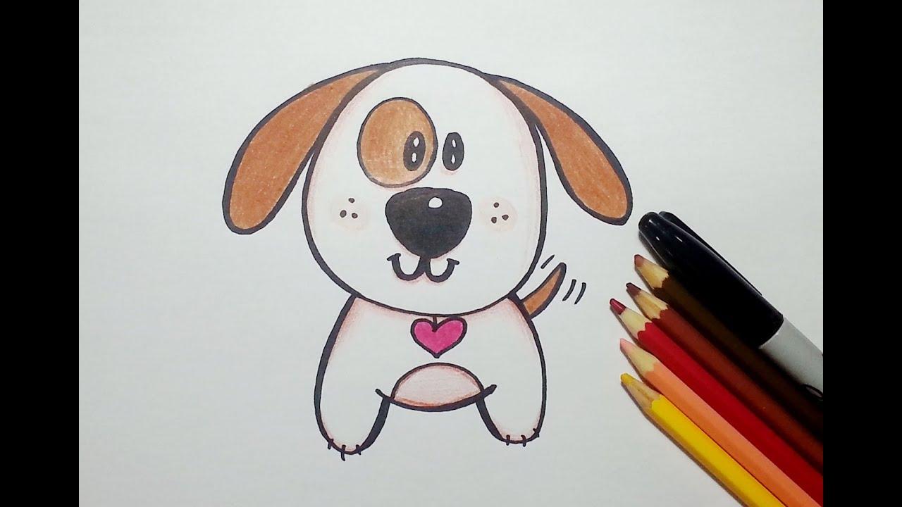 Como Desenhar Um Cachorrinho Fofo Kawaii