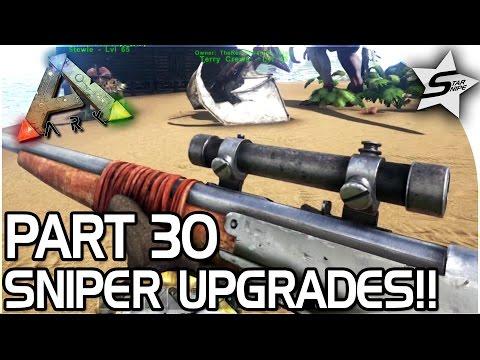SNIPER UPGRADES, TRANQ DARTS!! - ARK Survival Evolved PS4 PRO Gameplay Part 30