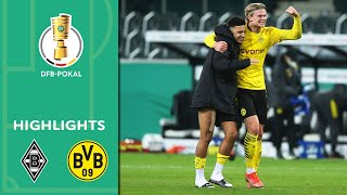 Sancho with the Winner! Borussia M'gladbach vs. Dortmund 0-1 | Highlights | DFB-Pokal Quarter Finals