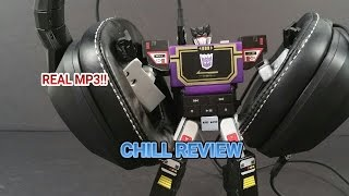 "Music Label Soundwave (MP3) ""Blaster Black"" ver.  CHILL REVIEW"