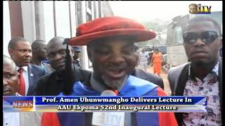 Prof. Amen Uhunmwangho Delivers Lecture In AAU Ekpoma 52nd Inaugural Lecture