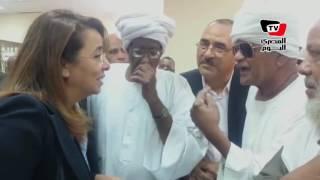 أهالي النوبة يطالبون غادة والي بإنشاء فرع لبنك ناصر في أسوان