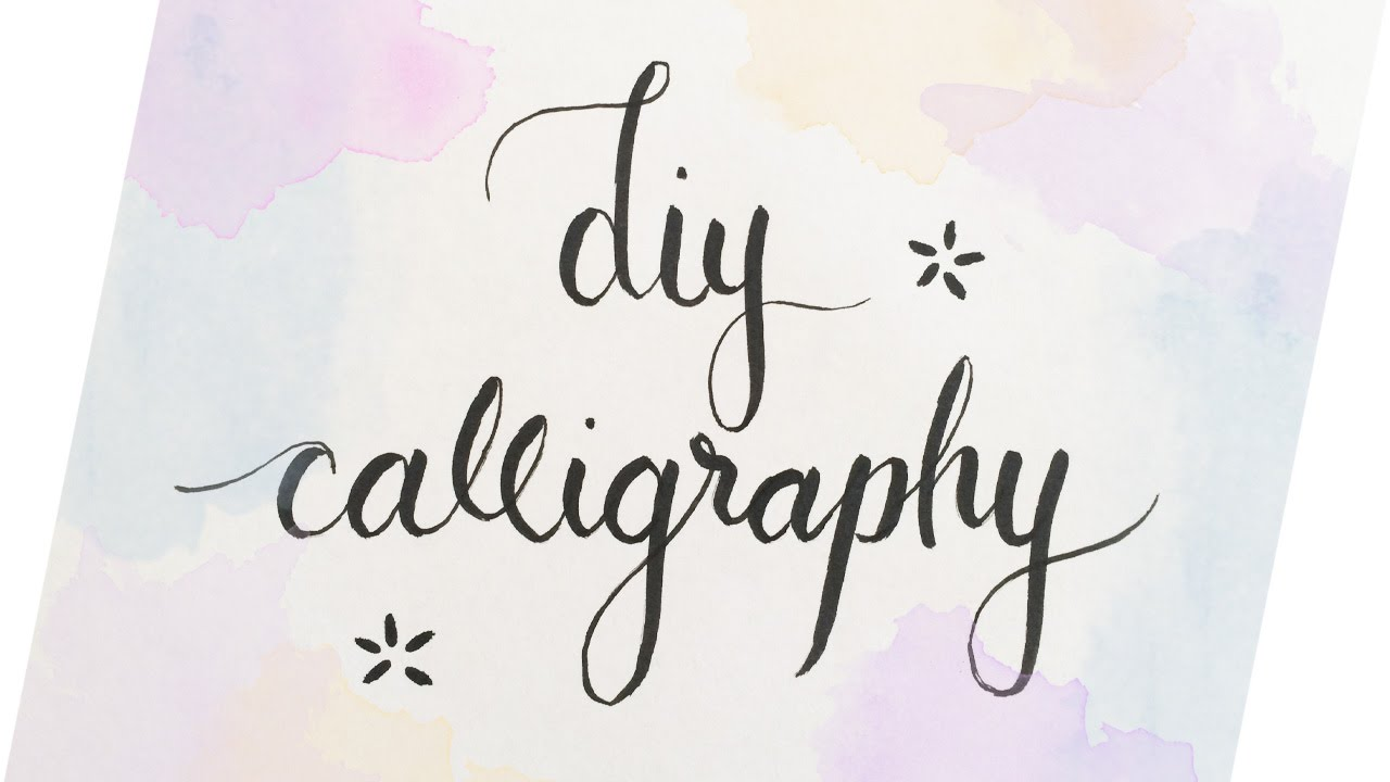 DIY Calligraphy 3 Easy Ways Haley Ivers