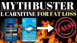 MYTHBUSTERS #2 : L Carnitine Supplementation For Fat Loss