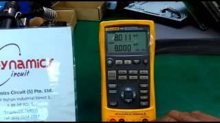 Fluke 725 Multifunction Process Calibrator Repairs Dynamics Circuit (S) Pte. Ltd.