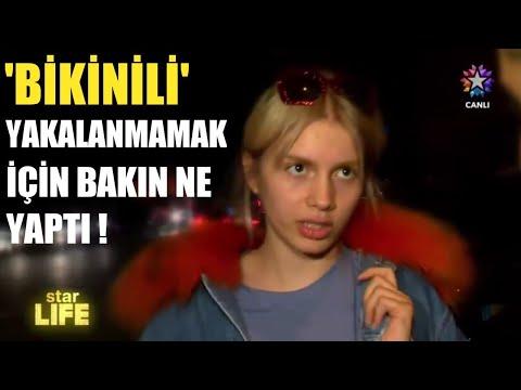 Aleyna Tilki Bikinili Yakalanmamak İçin Bakın Ne Yaptı !