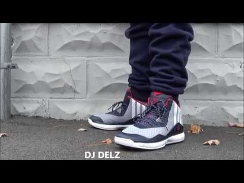 c80e1e02ece82 adidas John Wall JWall1 Sneaker On Foot With Shorts   Joggers With Dj Delz