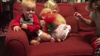 funny babies with animals adorable video