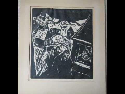 Jakob Steinhardt wood carving art print from 1921