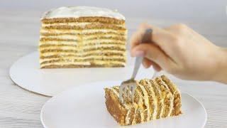 ТРОПИЧЕСКИЙ ТОРТ МЕДОВИК Рецепт медовика БЕЗ РАСКАТКИ коржей Нежный торт медовик и крем медовика