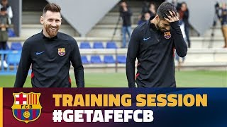 Last training session before the trip to Getafe