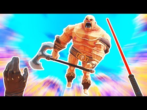 GORN JEDI! Lightsaber and The Force! - Gorn Gameplay - VR HTC Vive Pro