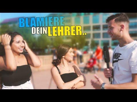 BLAMIERE Deinen LEHRER !..😱  STREET COMEDY   Denizon