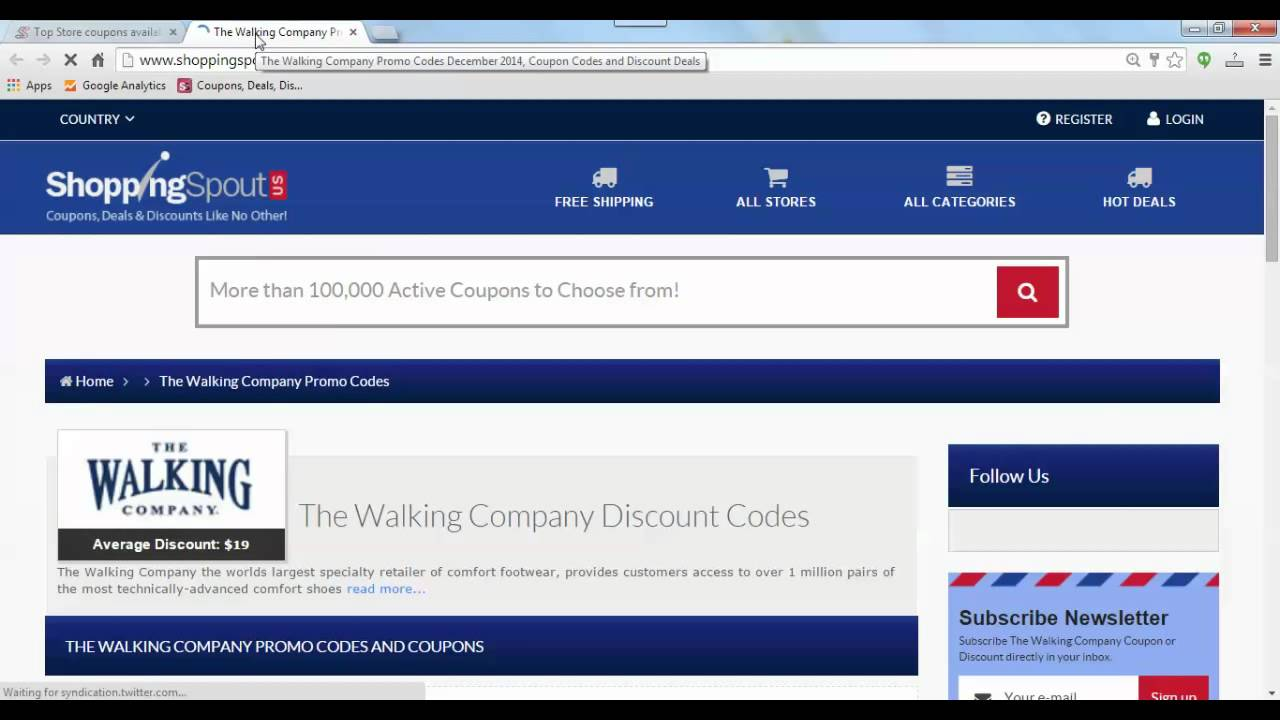 View The Walking Company Deals How to Use Coupons and Codes. The Walking Company promo codes are yours for the taking. Simply enter the codes you .