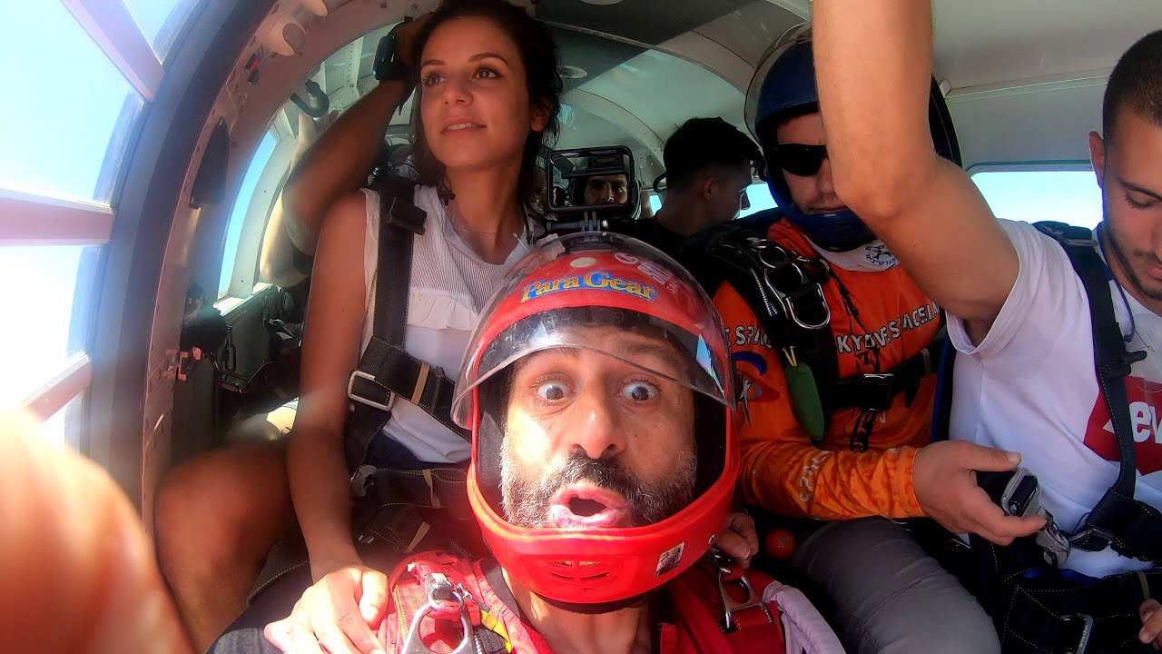 Golan Shalhov with Lea Galo First Skydive