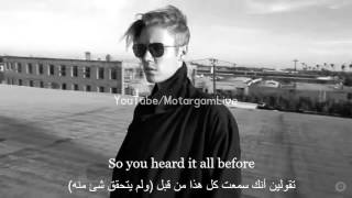 Justin Bieber - Mark My Words مترجمة الئ العربية