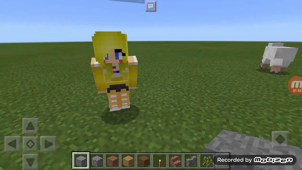 Fnaf World Minecraft P E Toy Bonnie Skin YouTube - Skin para youtuber minecraft indo