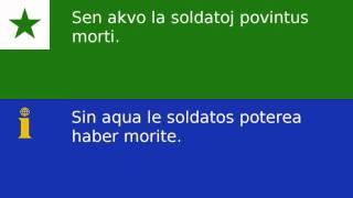 Esperantaj frazoj traducite in interlingua