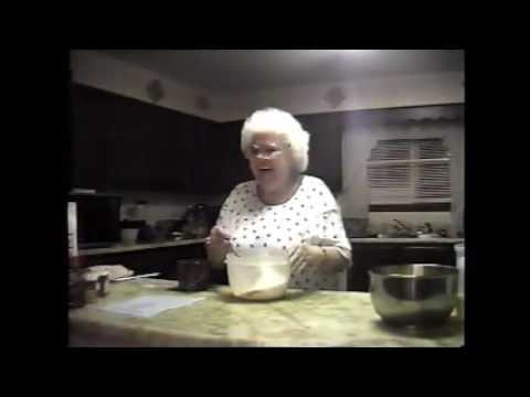 Granny Sizemore Making Stack Cake