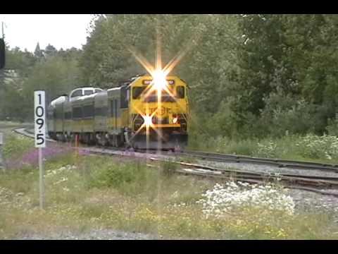 Alaska Railroad GP40-2 3010 Leads the Glacier Discovery Train