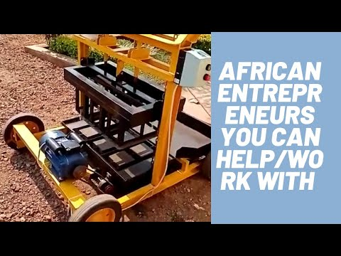 IS THERE REAL AFRICAN ENTREPRENEURS/INVENTORS AFRICAN AMERICAN CAN HELP/WORK WITH? #BLOCK 929